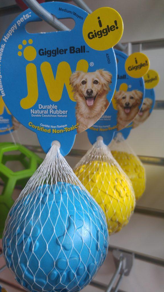 Balle texturée pour chien